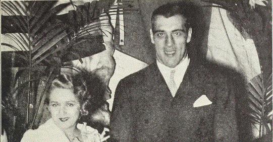 Мэри Пикфорд и Примо Карнера на праздновании 15-и летия фашизма